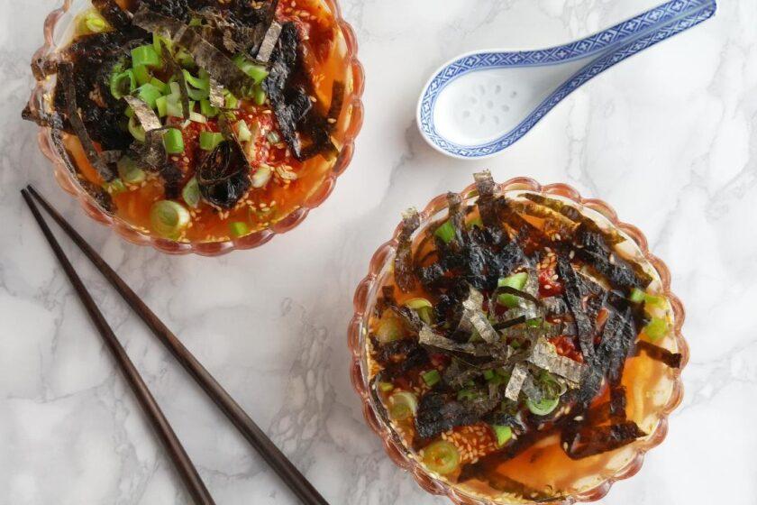 ricetta zuppa con kimchi